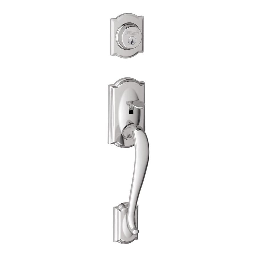 Schlage Camelot Adjustable Bright Chrome Entry Door Exterior Handle