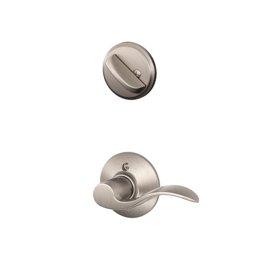 Shop Schlage Accent 1 5 8 In To 1 3 4 In Satin Nickel