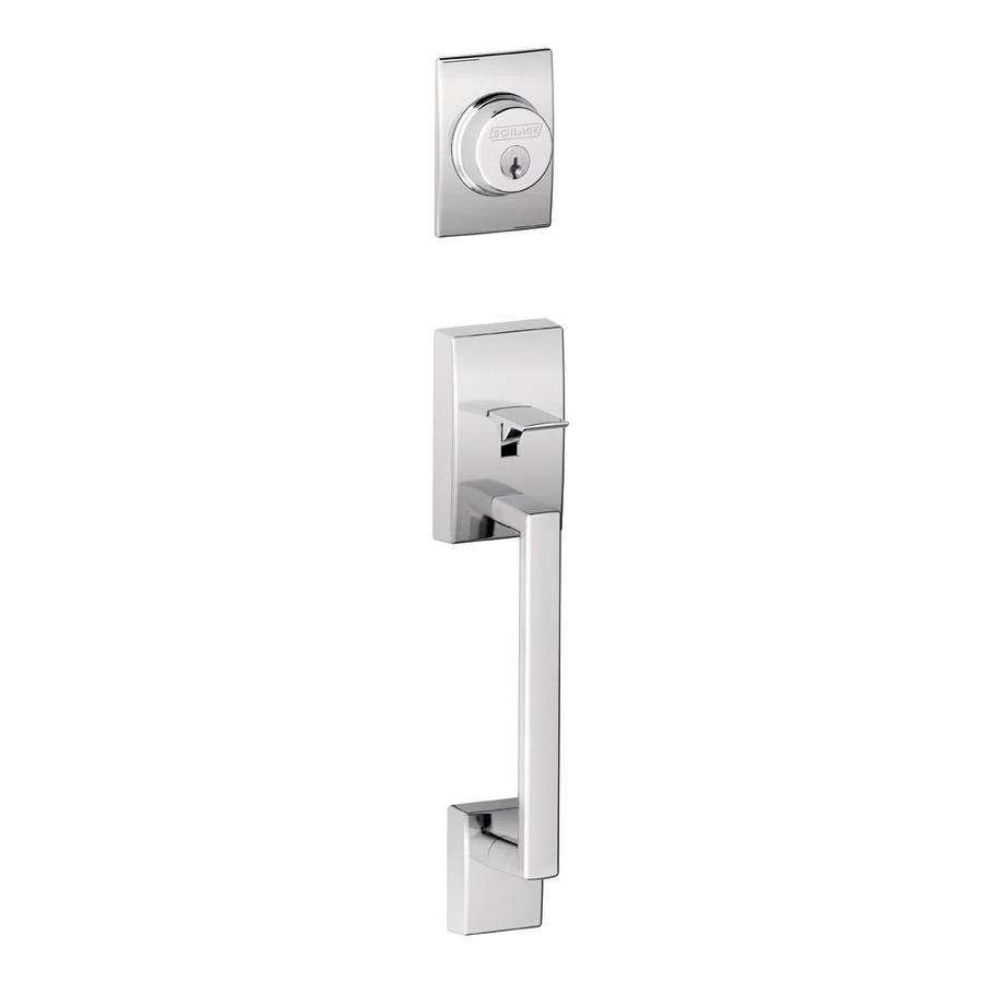 Shop Schlage Century Bright Chrome Entry Door Exterior Handle At
