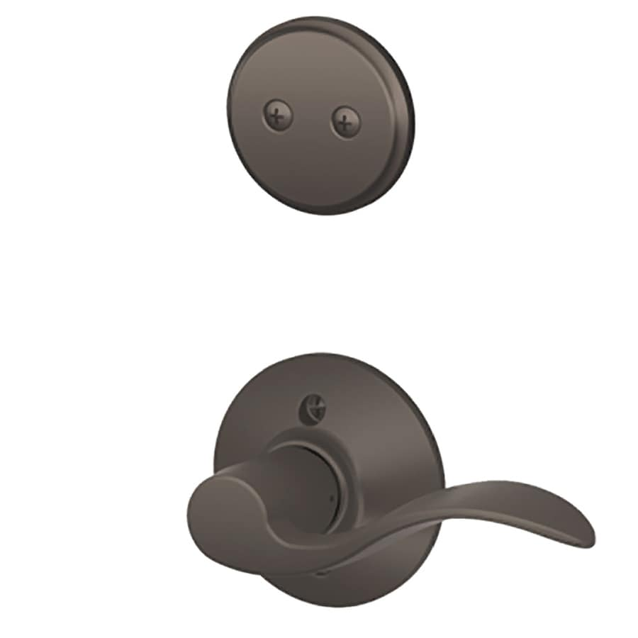 Schlage Accent 1-5/8-in to 1-3/4-in Oil-Rubbed Bronze Non-Keyed Lever Entry Door Interior Handle