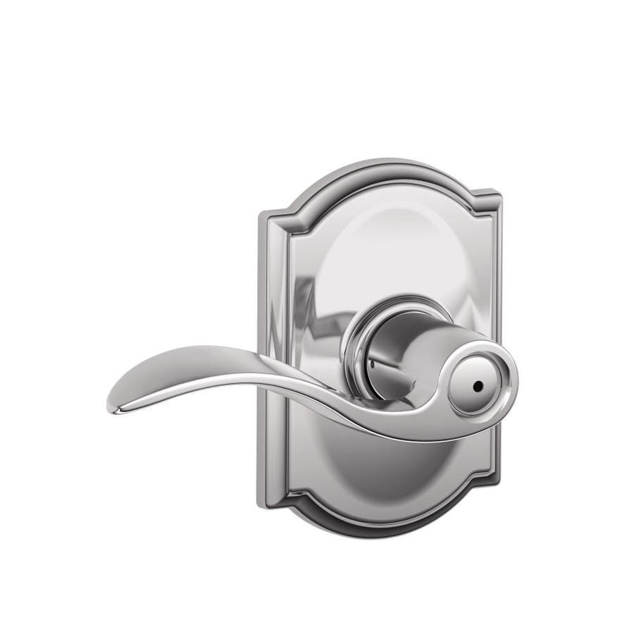 Schlage F40 Acc Cam Accent Camelot Polished Chrome