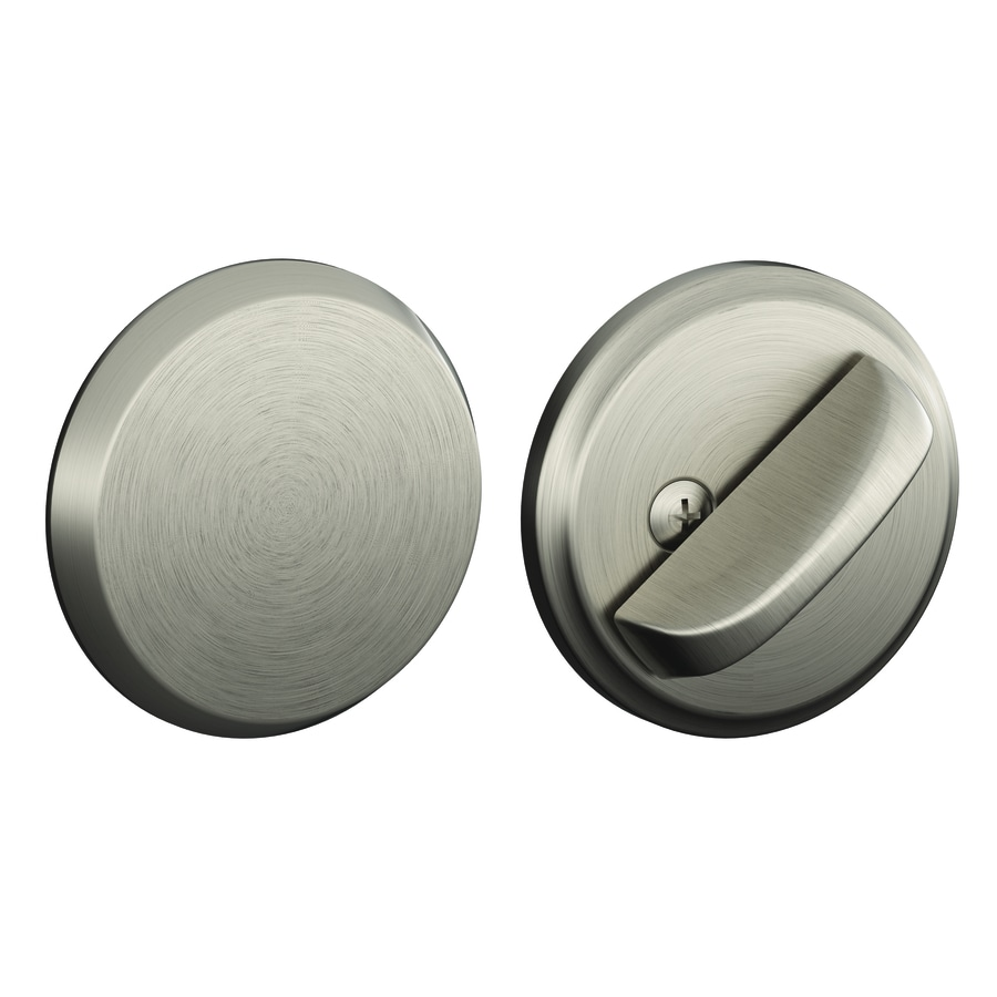 Shop Schlage Satin Nickel Single Sided Keyless Deadbolt At