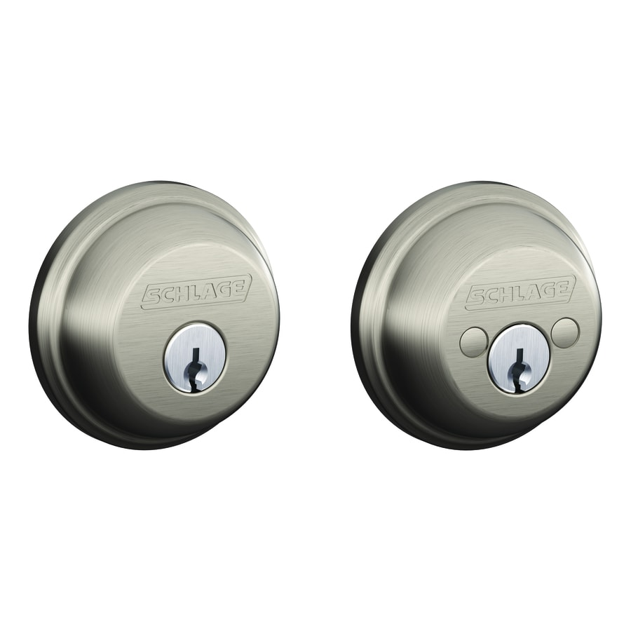 Schlage Satin Nickel Double-Cylinder Deadbolt