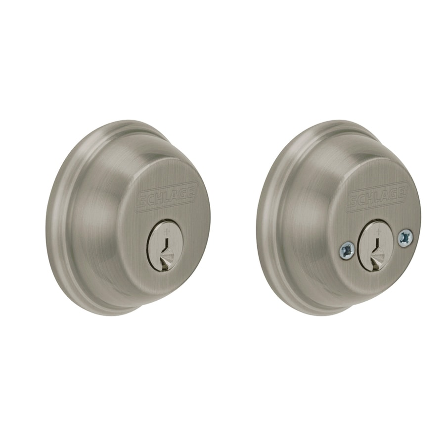 Schlage Antique Pewter Double-Cylinder Deadbolt