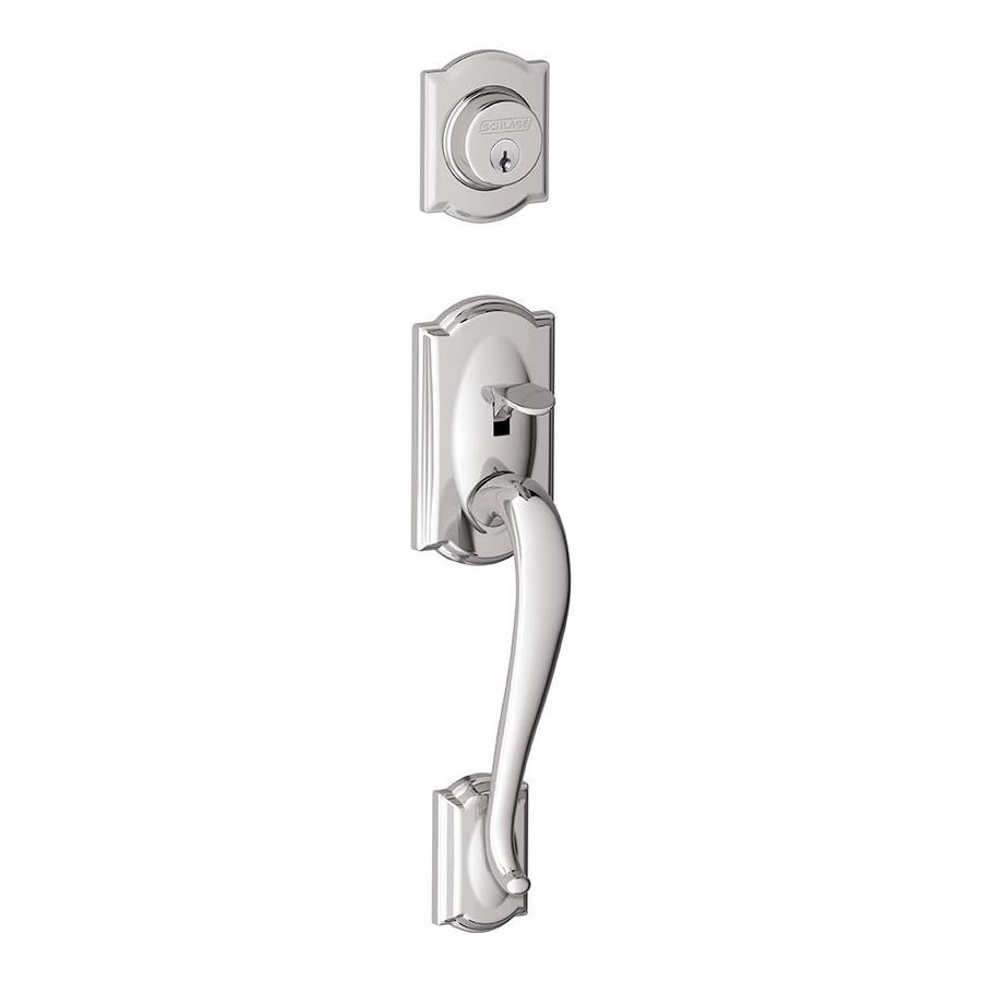 Schlage Camelot Bright Chrome Entry Door Exterior Handle