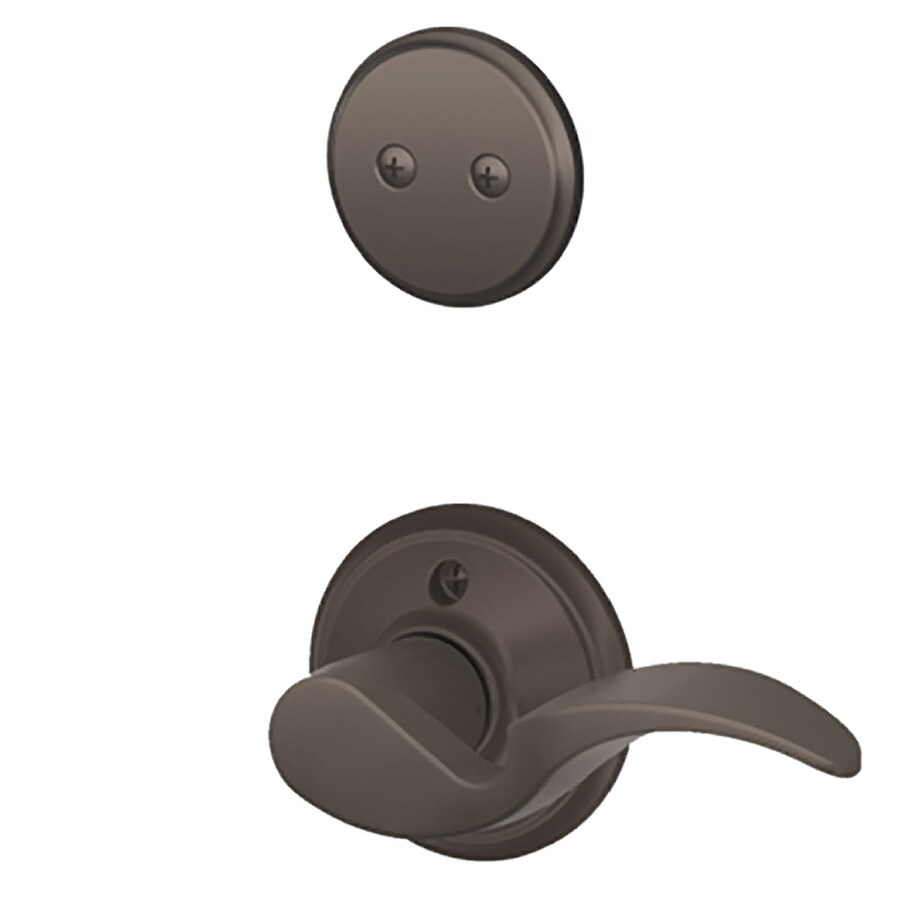 Schlage Avanti 1-5/8-in to 1-3/4-in Oil-Rubbed Bronze Non-Keyed Lever Entry Door Interior Handle