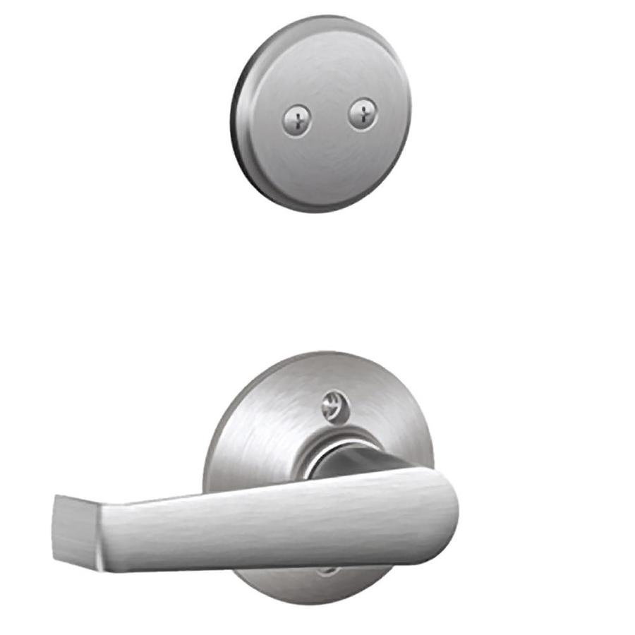 Schlage Elan 1 5 8 In To 1 3 4 In Satin Chrome Non Keyed Lever Entry Door Interior Handle At