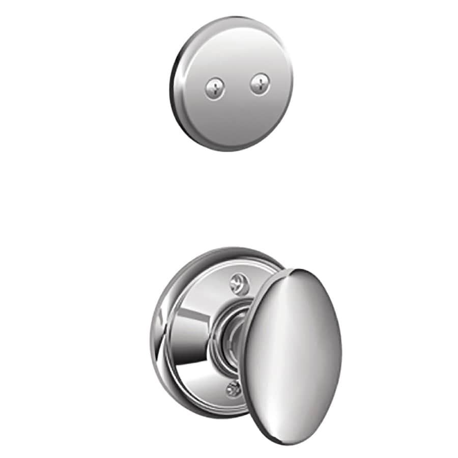 Schlage Siena 1-5/8-in to 1-3/4-in Bright Chrome Non-Keyed Knob Entry Door Interior Handle