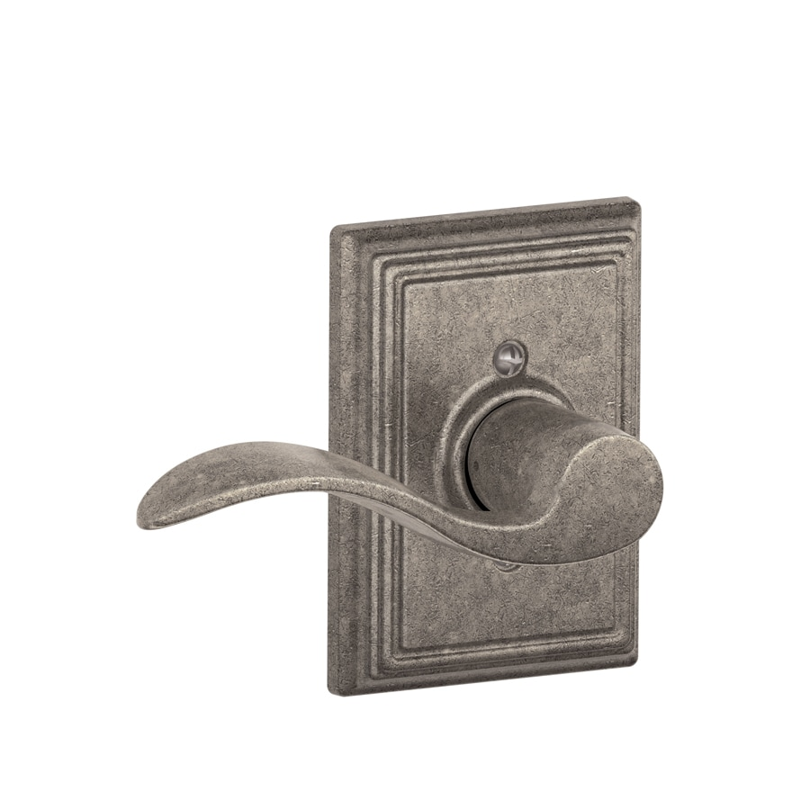 Schlage Decorative Addison Collections Accent Distressed Nickel-Handed Passage Door Lever