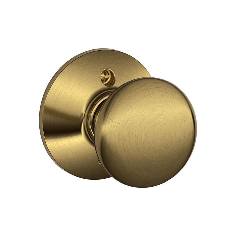 Schlage F Plymouth Antique Brass Dummy Door Knob