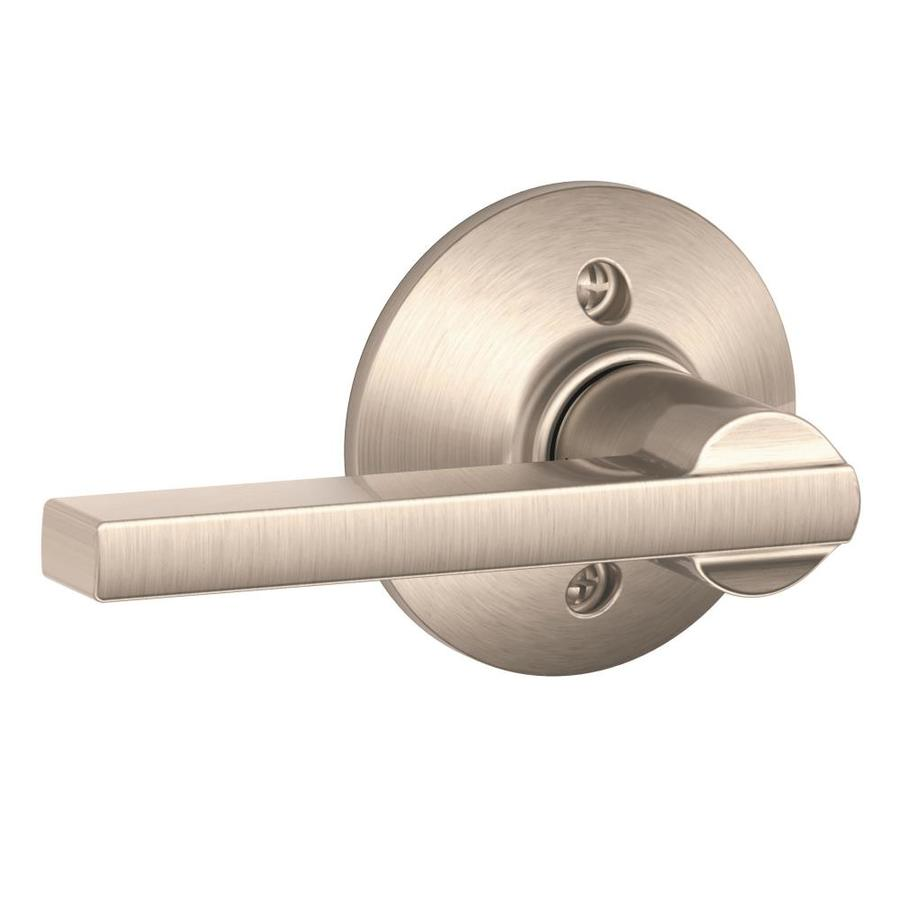 Schlage F Latitude Satin Nickel Dummy Door Lever