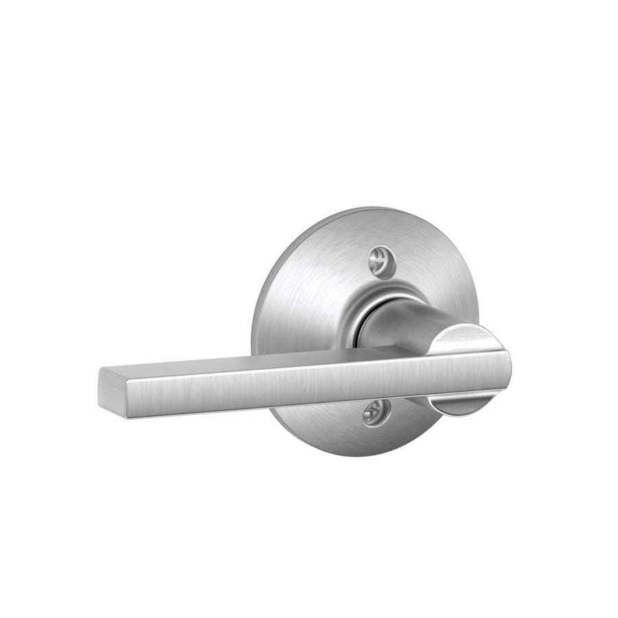 Shop Schlage F Latitude Satin Chrome Dummy Door Lever At