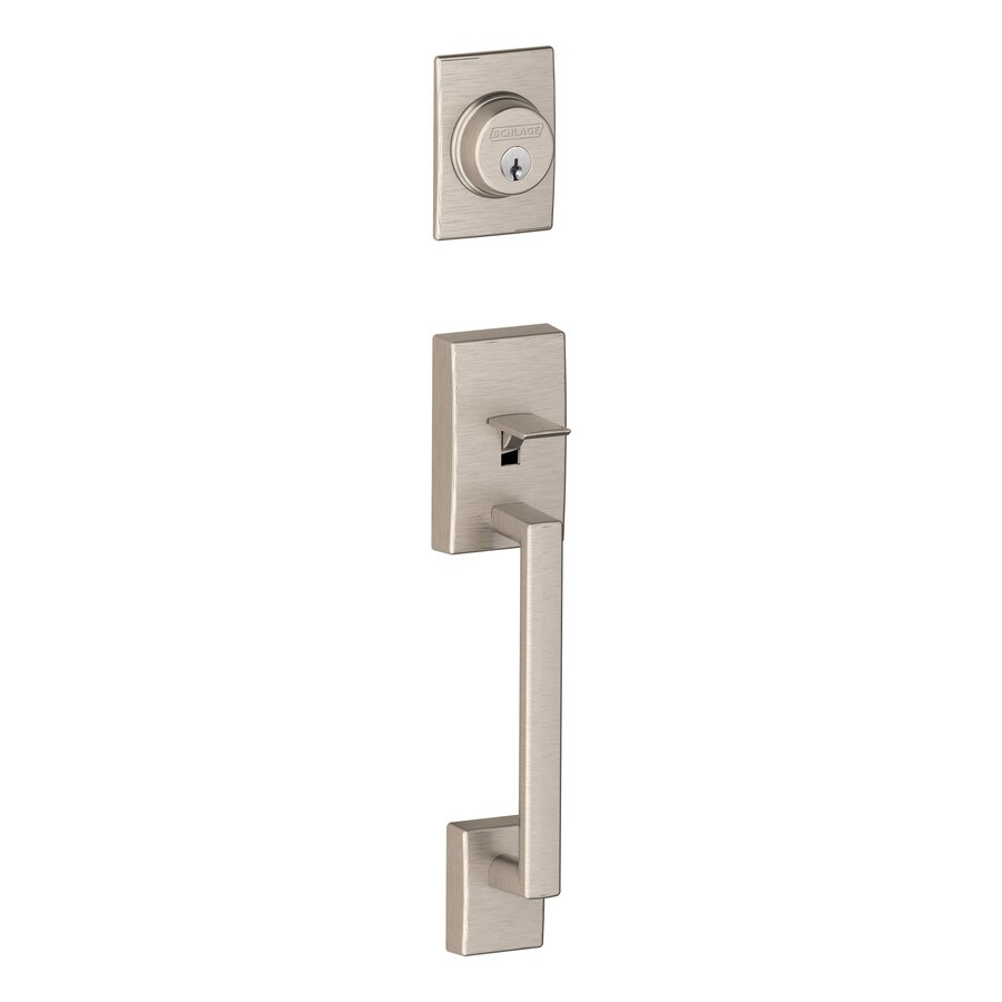 Exterior Door Locks : Shop schlage century adjustable satin nickel entry door