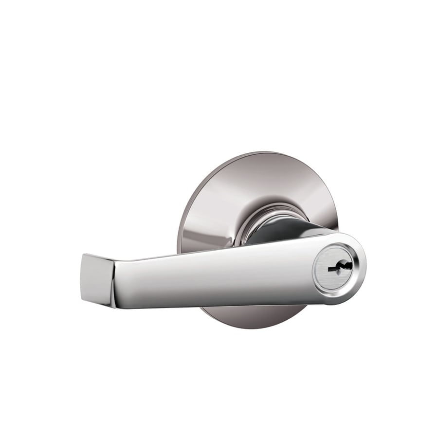 Schlage F Elan Traditional Bright Chrome Universal Keyed Entry Door Lever