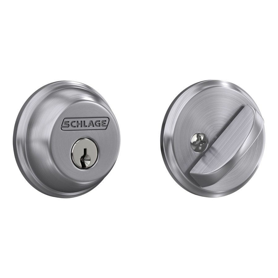 Schlage Deadbolt Satin Chrome Single Cylinder Deadbolt At