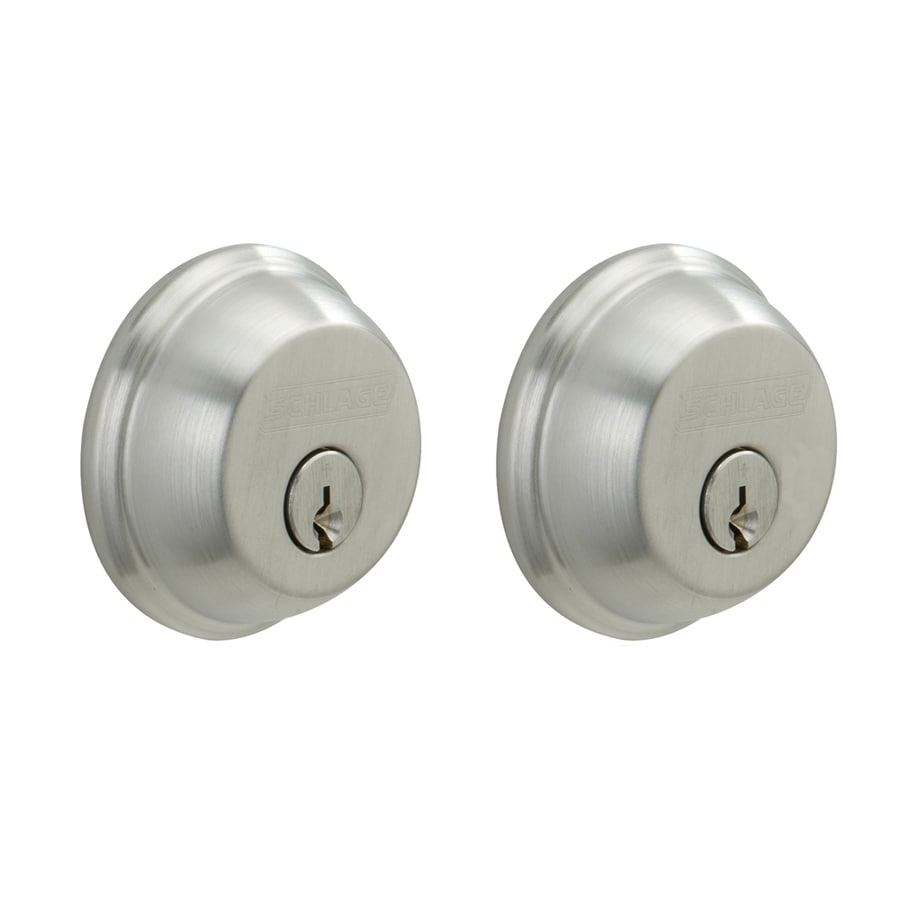 Schlage Satin Chrome Double-Cylinder Deadbolt