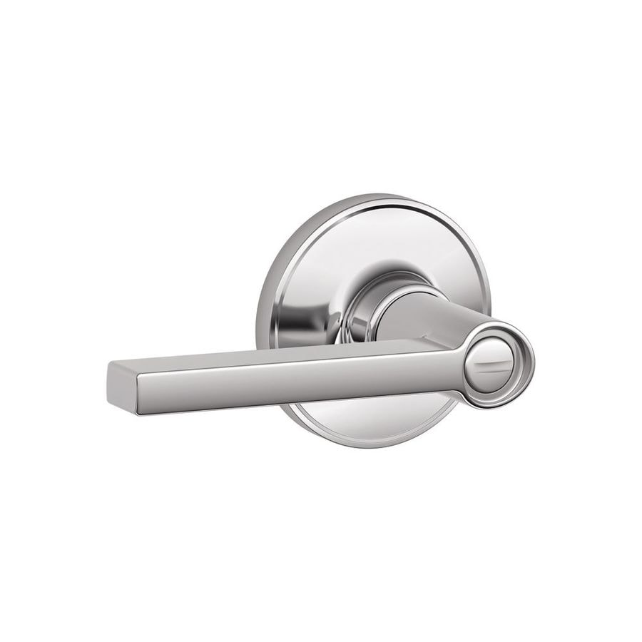Shop Schlage Solstice Bright Chrome Turn Lock Privacy Door Handle At