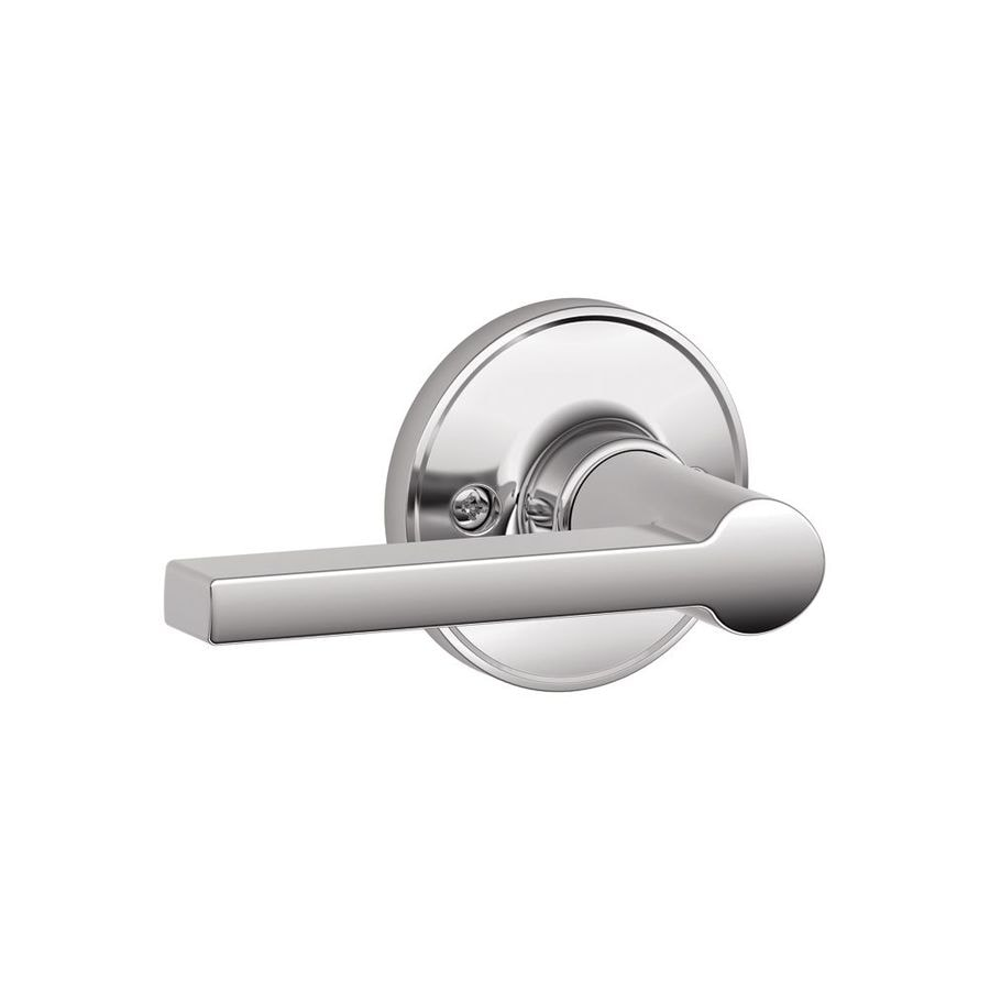 Shop Schlage J Solstice Bright Chrome Dummy Door Handle At