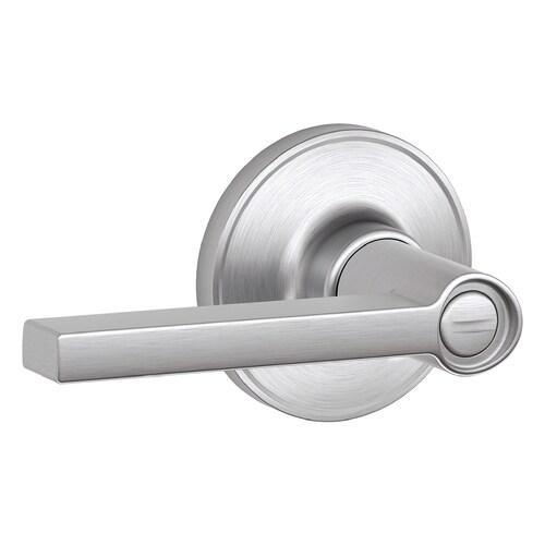Schlage J Solstice Satin Chrome Reversible Privacy Door