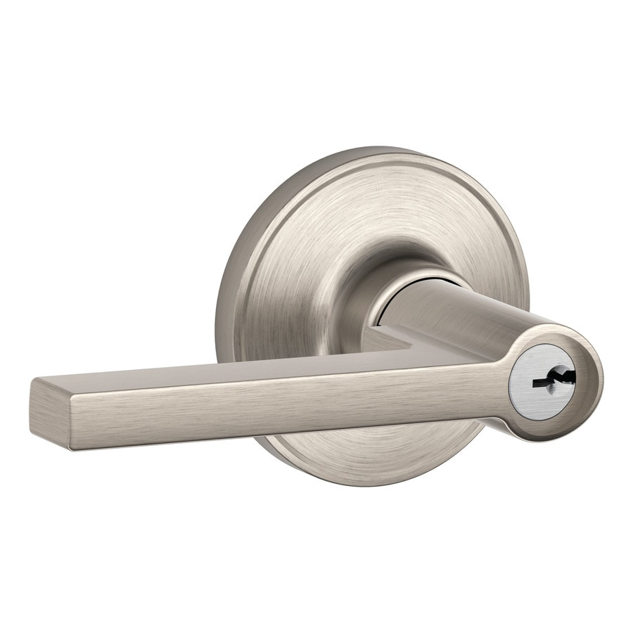 Shop Schlage J Solstice Satin Nickel Keyed Entry Door