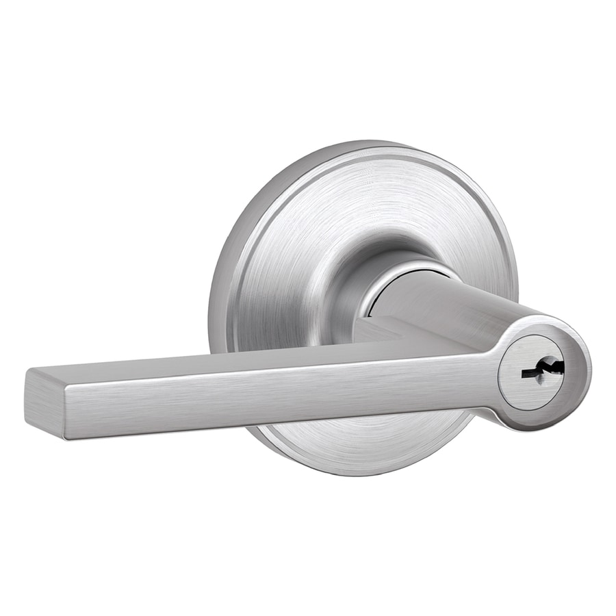Schlage J Solstice Satin Chrome Reversible Keyed Entry