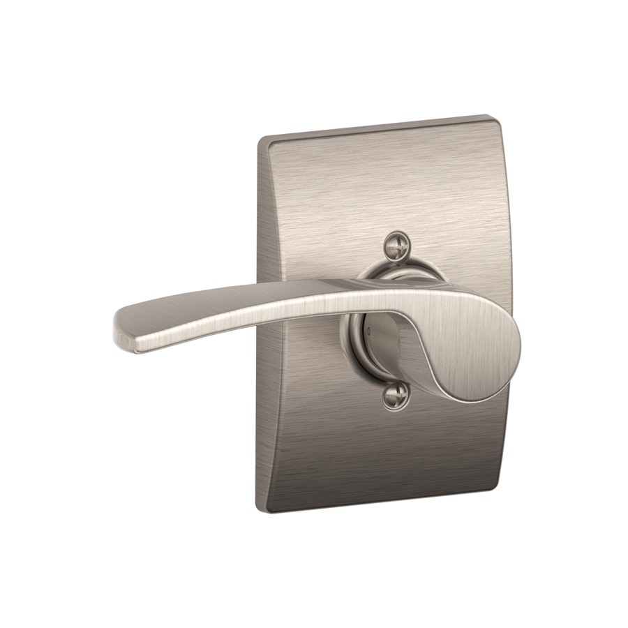 Schlage Decorative Century Collections Merano Satin Nickel-Handed Passage Door Lever