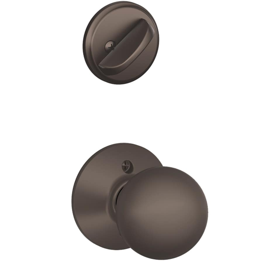 Shop Schlage Orbit 1 5 8 In To 1 3 4 In Oil Rubbed Bronze Single Cylinder Knob Entry Door