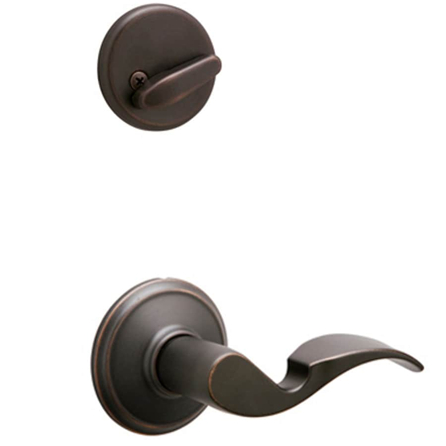 Schlage Avanti 1-5/8-in to 1-3/4-in Aged Bronze Single Cylinder Lever Entry Door Interior Handle