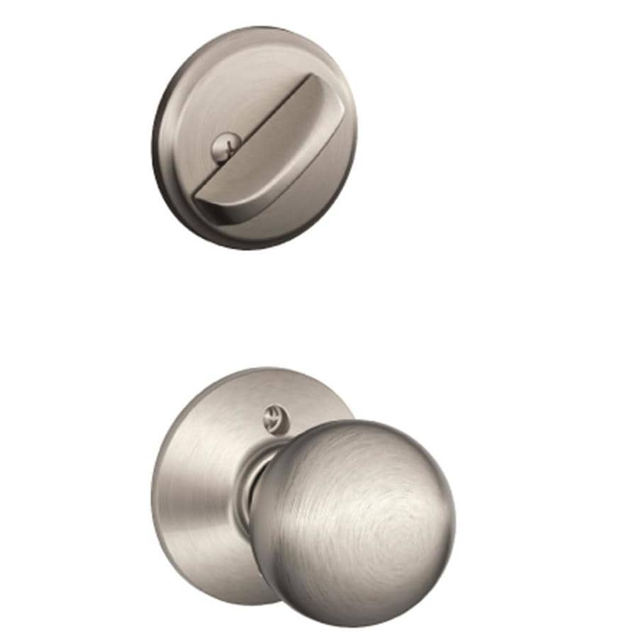 Shop Schlage Orbit 1 5 8 In To 1 3 4 In Satin Nickel