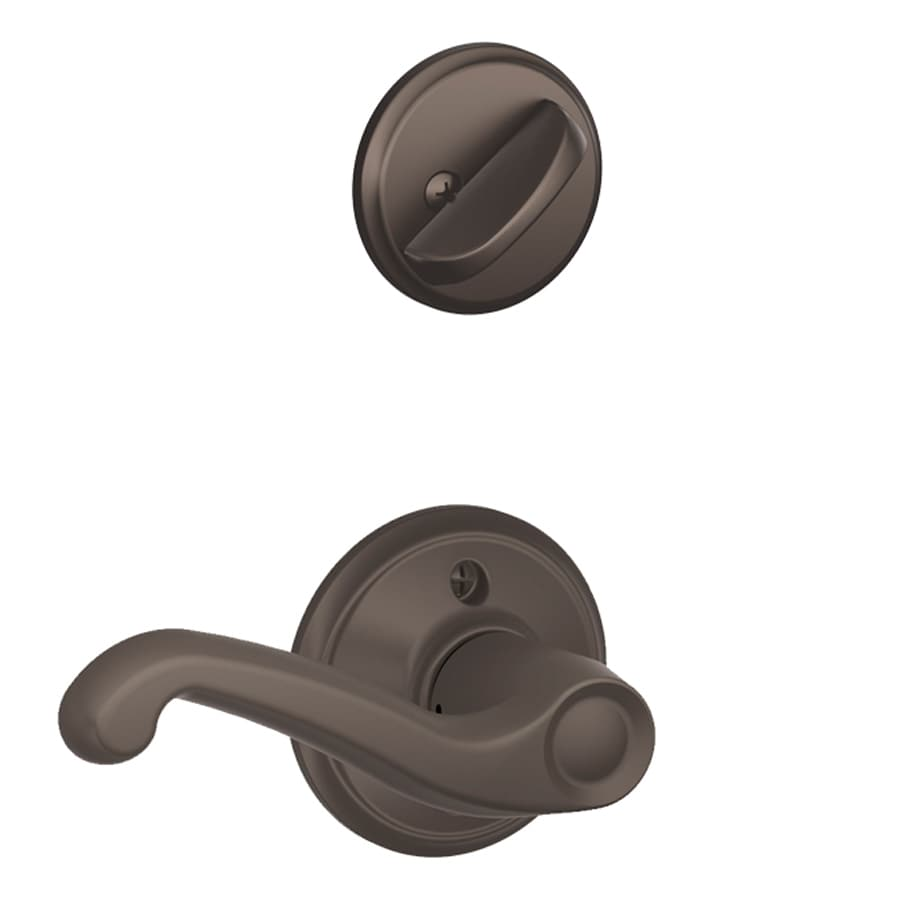 Schlage Interior Door Handles Shop Schlage Flair 1 5 8