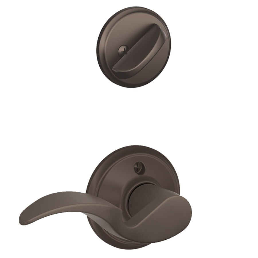Schlage Avanti 1-5/8-in to 1-3/4-in Oil-Rubbed Bronze Single Cylinder Lever Entry Door Interior Handle