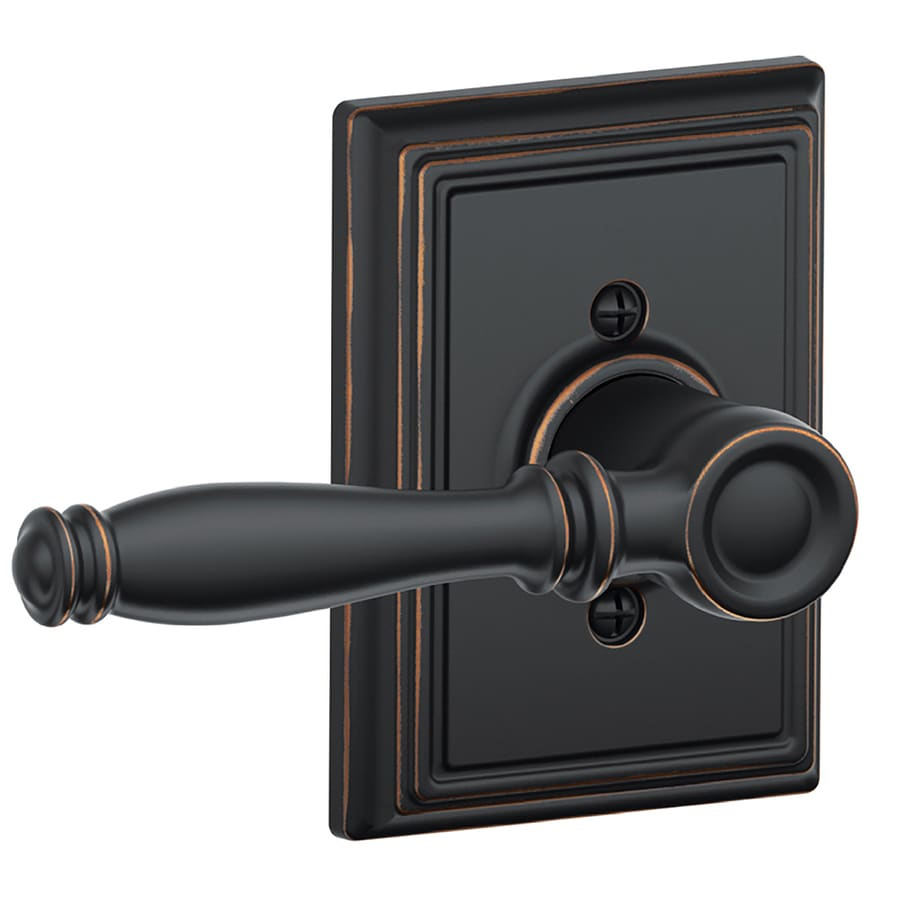 Shop Schlage F Decorative Birmingham X Addison Aged Bronze