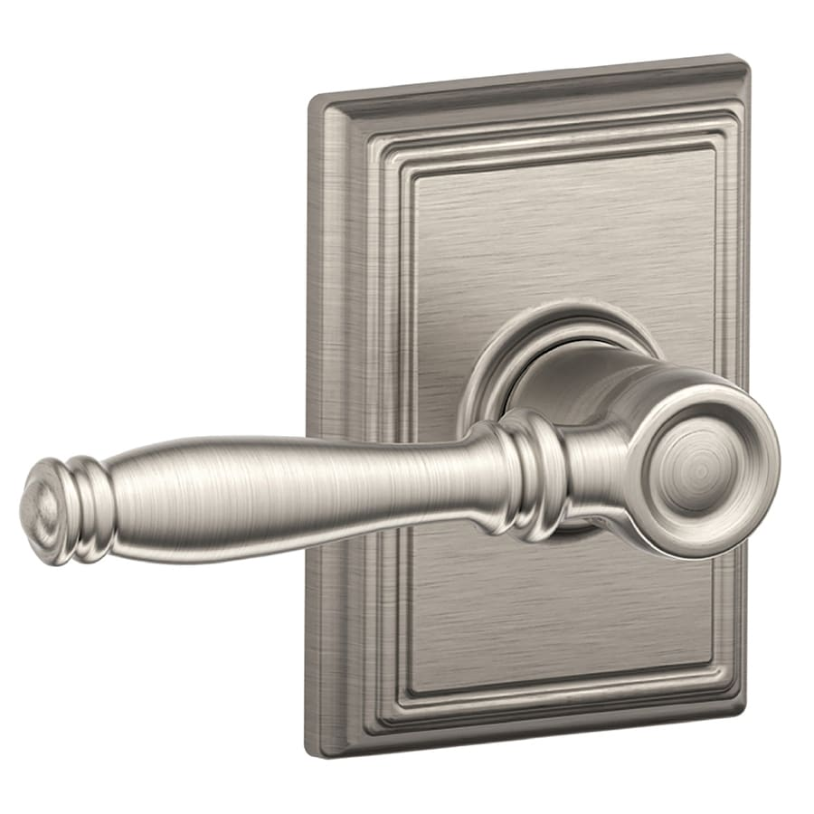 Schlage Decorative Addison Collections Birmingham Satin Nickel-Handed Passage Door Lever