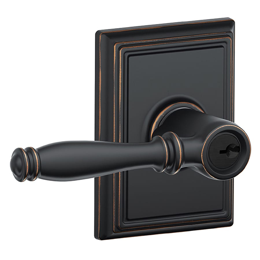 Schlage F Decorative Birmingham X Addison Aged Bronze