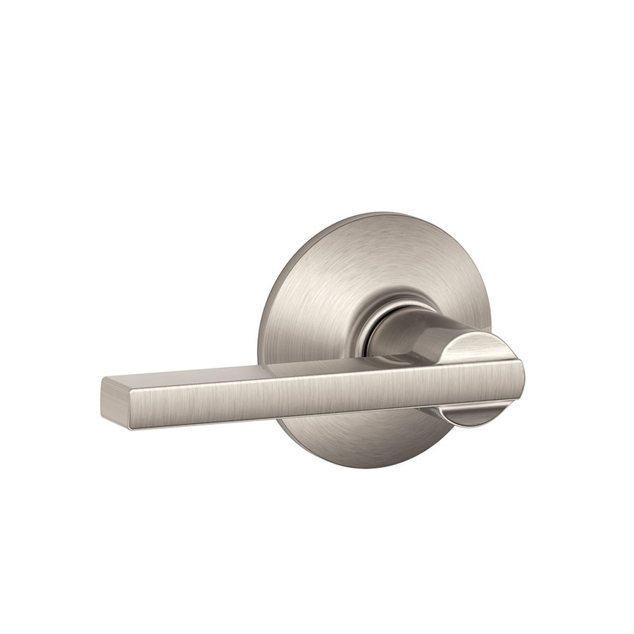 Schlage F Latitude Satin Nickel Universal Passage Door Lever