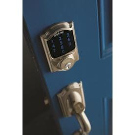 Shop Schlage Be469 Cam Connect Cemelot Satin Nickel Single