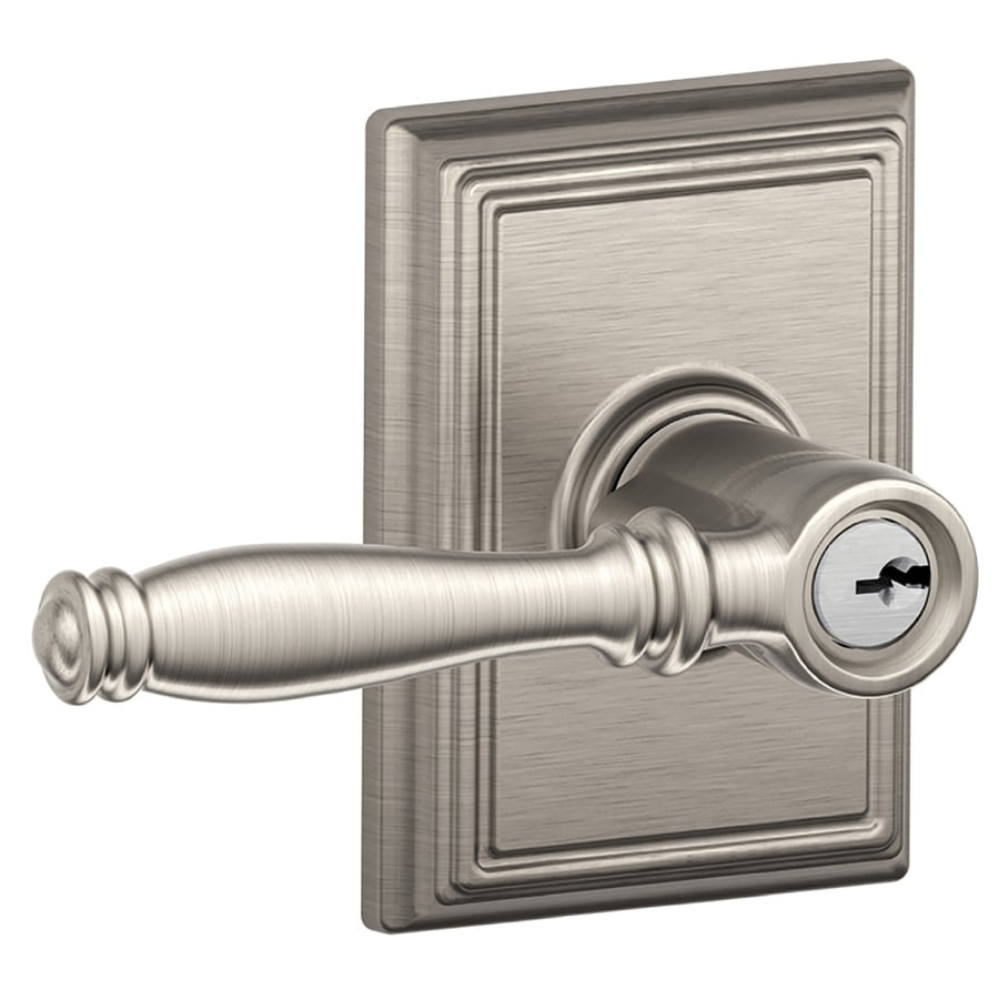 Shop Schlage F Decorative Birmingham X Addison Satin