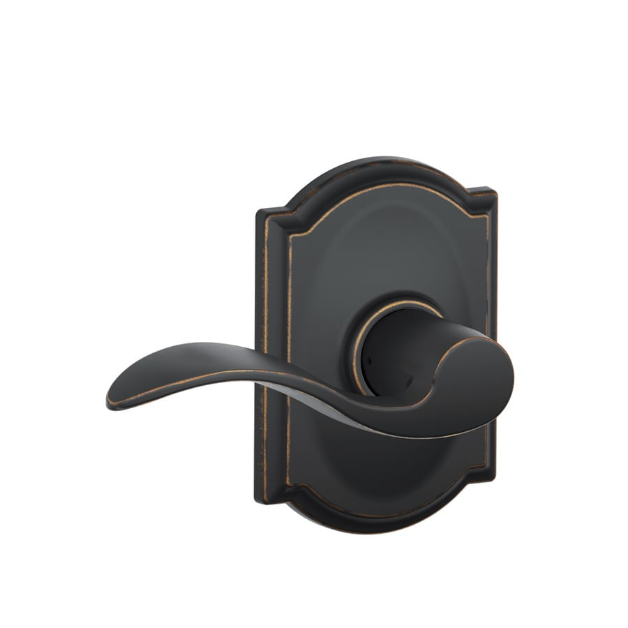 Shop Schlage Accent Aged Bronze Passage Door Lever At