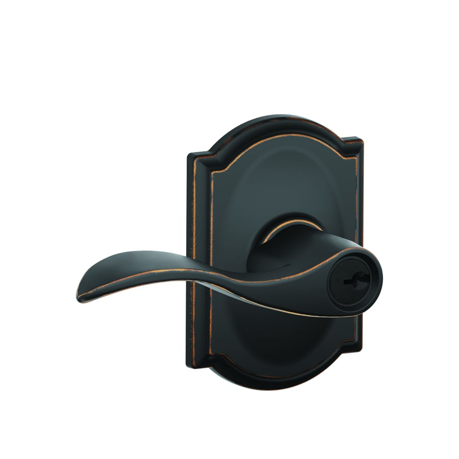 Schlage Accent Aged Bronze Keyed Entry Door Lever