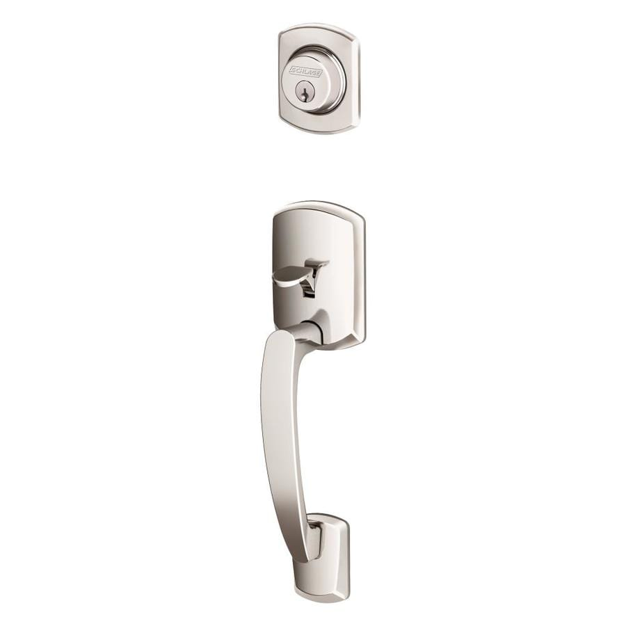 Shop Schlage Greenwich Adjustable Bright Chrome Entry Door Exterior Handle At