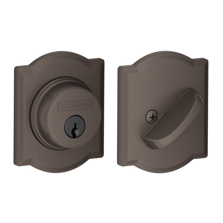 Schlage B Decorative Camelot Collections Oil-Rubbed Bronze Single-Cylinder Deadbolt