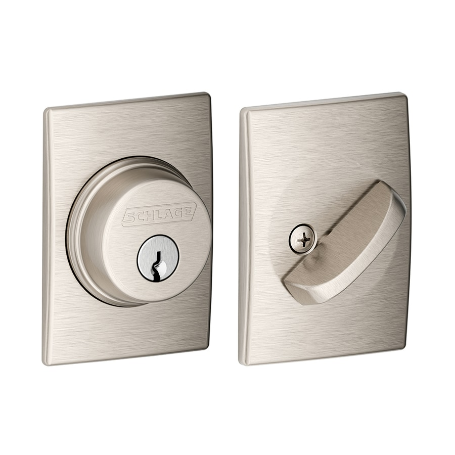 Schlage Century Satin Nickel Single-Cylinder Deadbolt