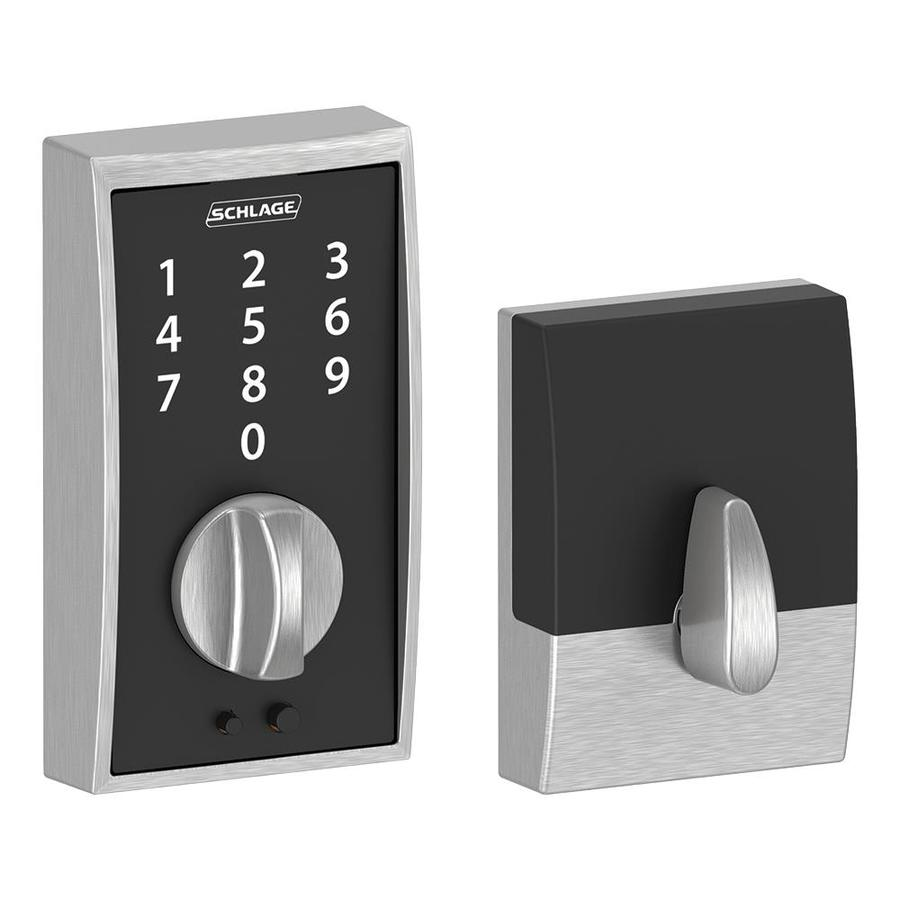 Schlage Touch Century Satin Chrome Touchscreen Electronic Entry Door Deadbolt with Keypad