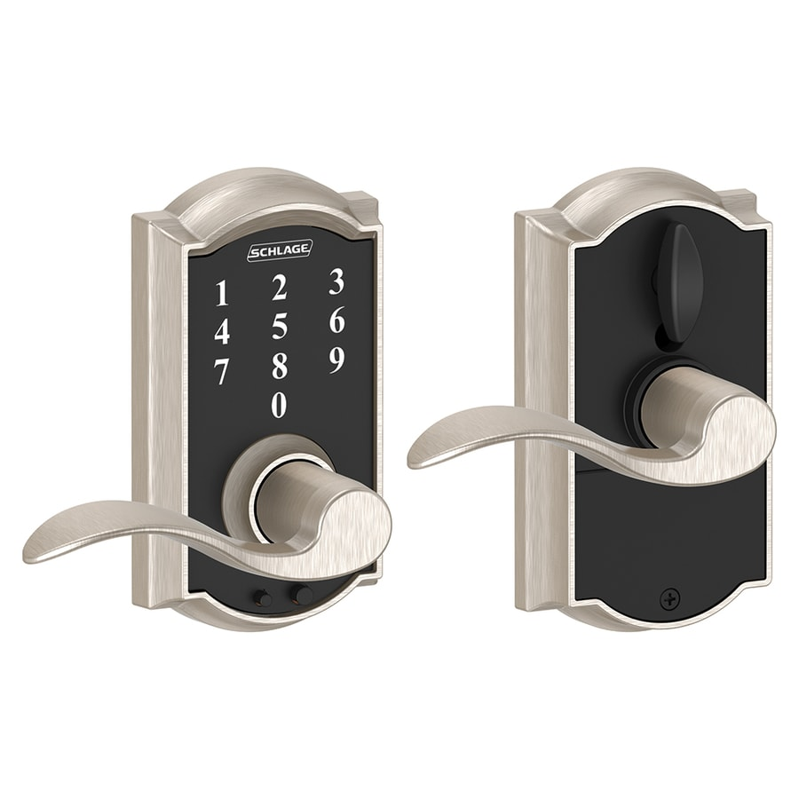 Schlage Touch Camelot Satin Nickel Electronic Entry Door Lever