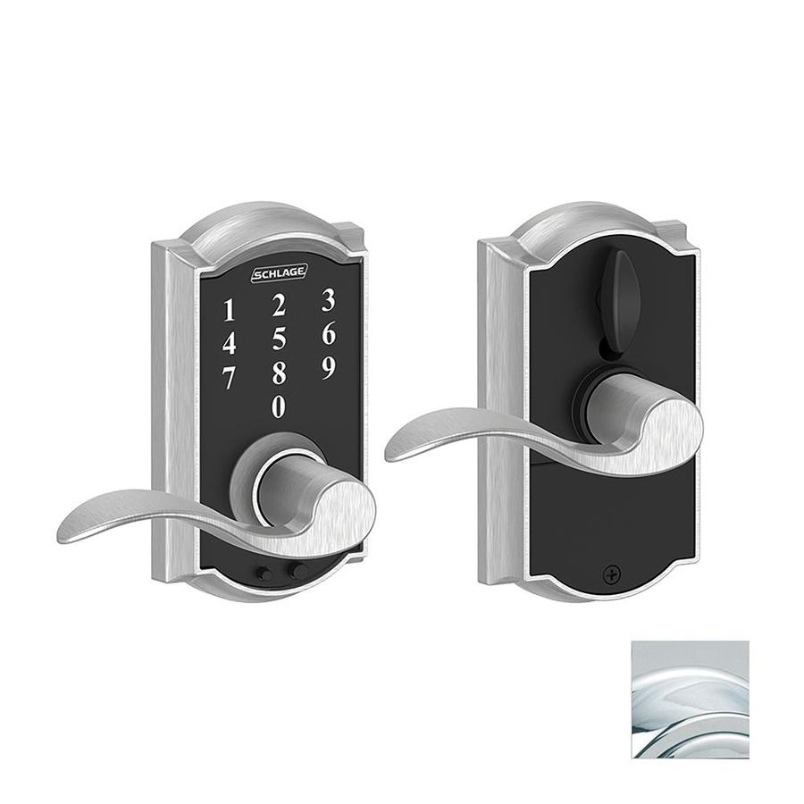 Schlage Touch Camelot Bright Chrome Electronic Entry Door Lever