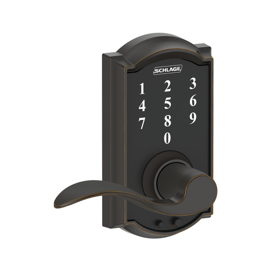 Exceptionnel Schlage FE695 Cam Touch Camelot Aged Bronze Keyless Electronic Handle With  Lighted Keypad