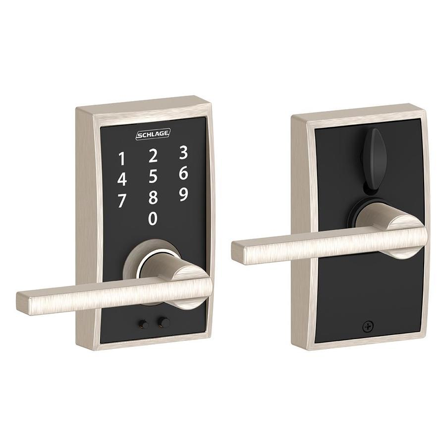 Schlage Touch Century Satin Nickel Electronic Entry Door Lever