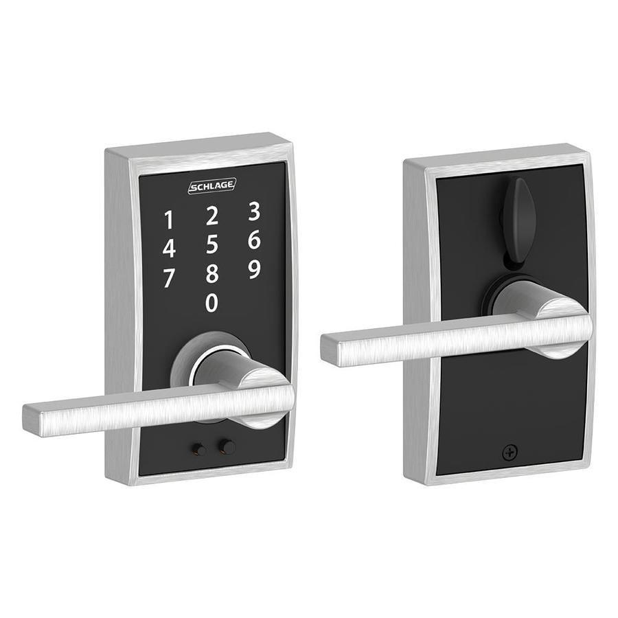 Schlage Touch Century Satin Chrome Electronic Entry Door Lever