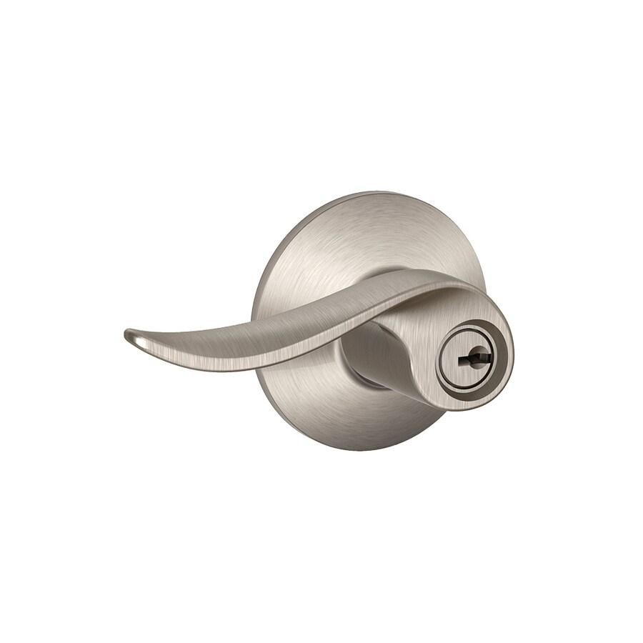 Schlage F Sacramento Satin Nickel Keyed Entry Door Handle