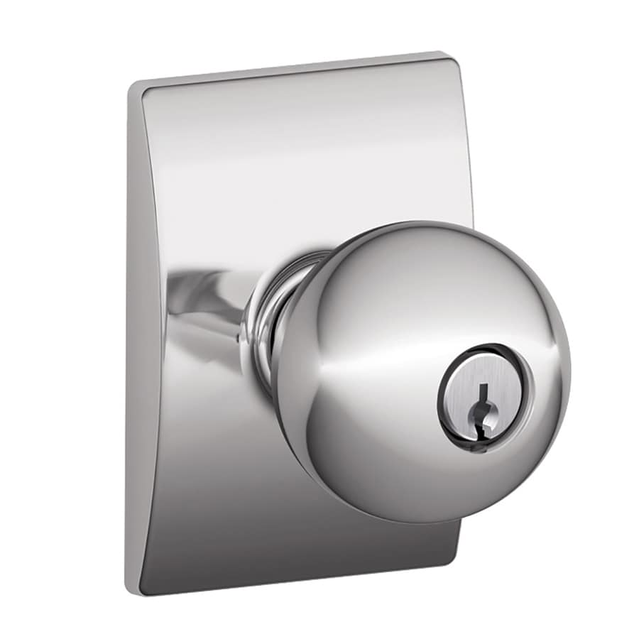 Schlage Orbit Bright Chrome Keyed Entry Door Knob